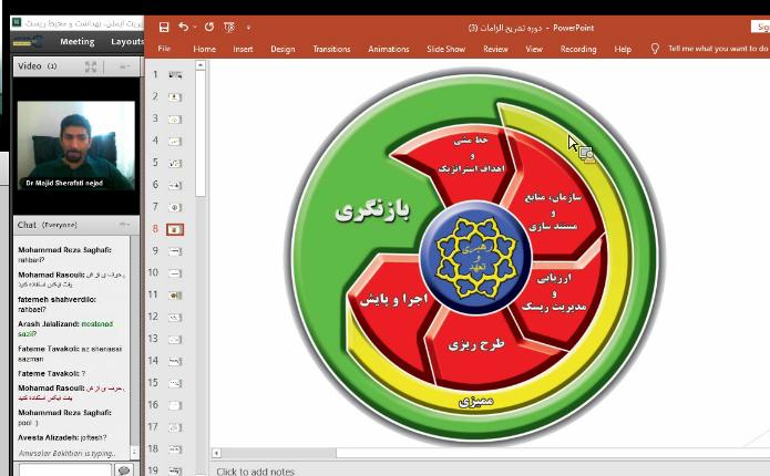 گزارش تصویری دوره آموزشی سیستم مدیریت HSE - شهریور 1400